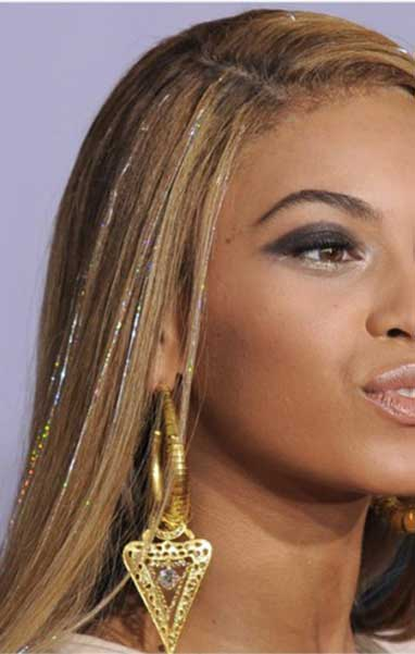 Beyonce Knowles wearing Silk ShimmerZ